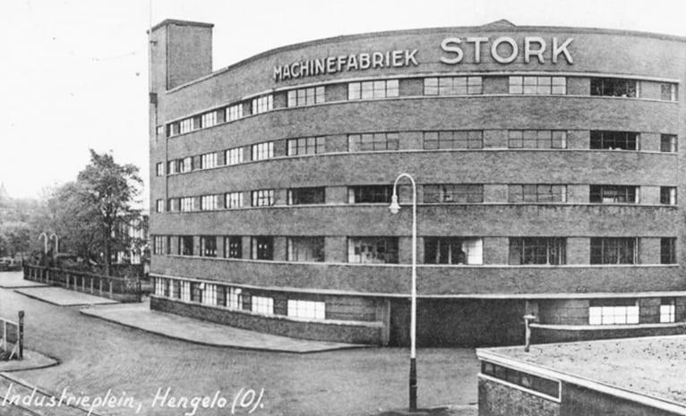 Stork building in Hengelo